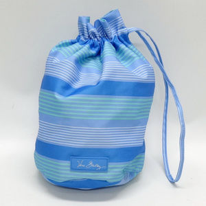 Vera Bradley Blue Striped Cinch Purse